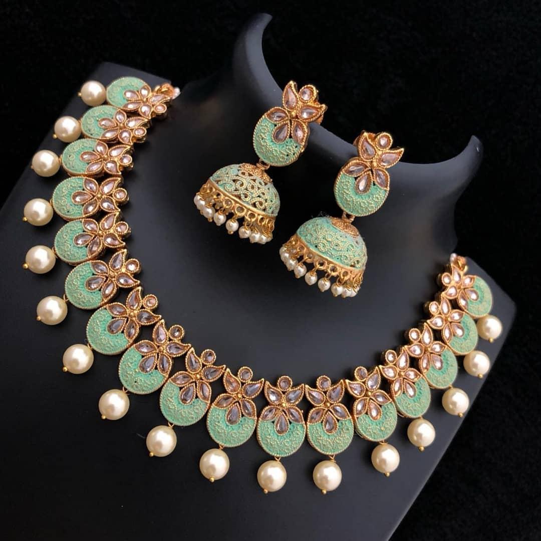 Mesmerizing Necklace Set From Embllish Chennai