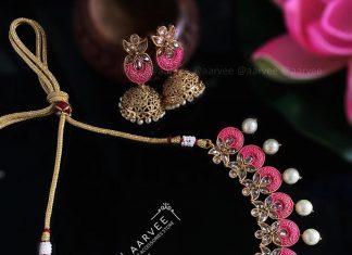 Oxidised Necklace Set From Aarvee Chennai