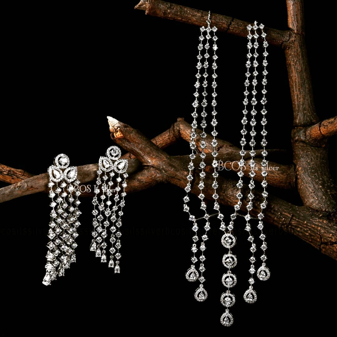 Pure Silver Swarovski Set From Bcos Its Silver