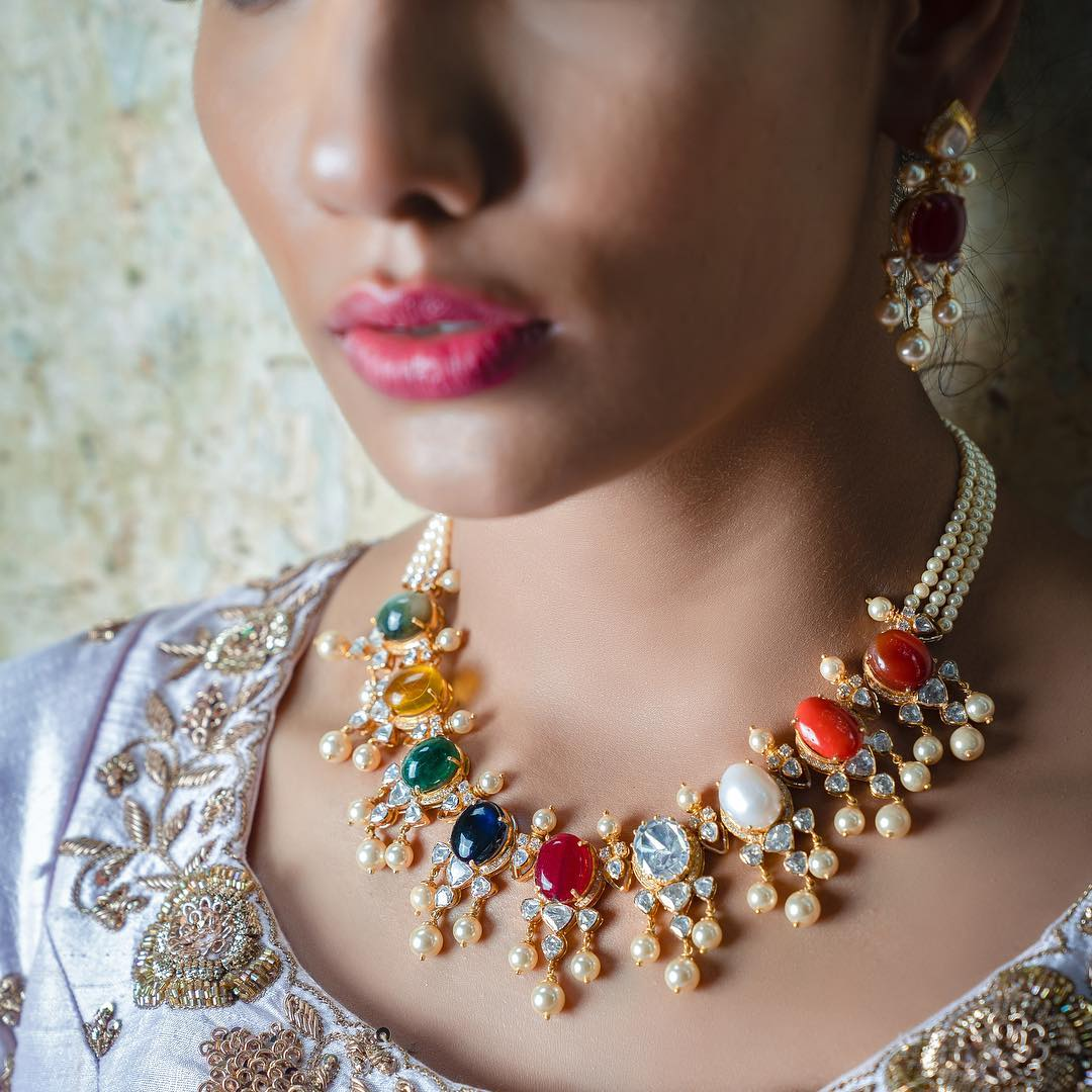 Stunning Gold Necklace From Aarni By Shravani