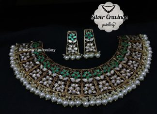 Stunning Silver Kundhan Choker From Silver Cravings Jewellery