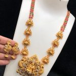Stunning Temple Necklace Set From Kovai Collections