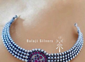 Stylish Simple choker From Balaji Silvers