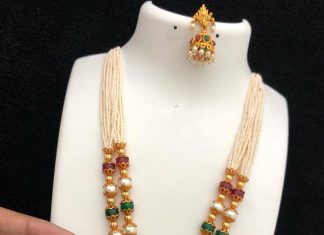 Traditional Long Necklace From Kovai Collections