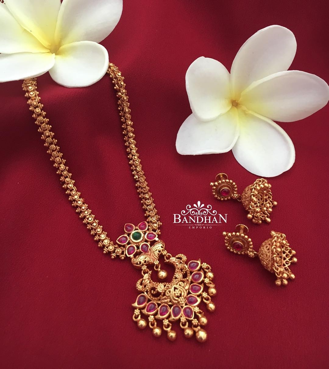 Traditional Ruby Necklace From Bandhan