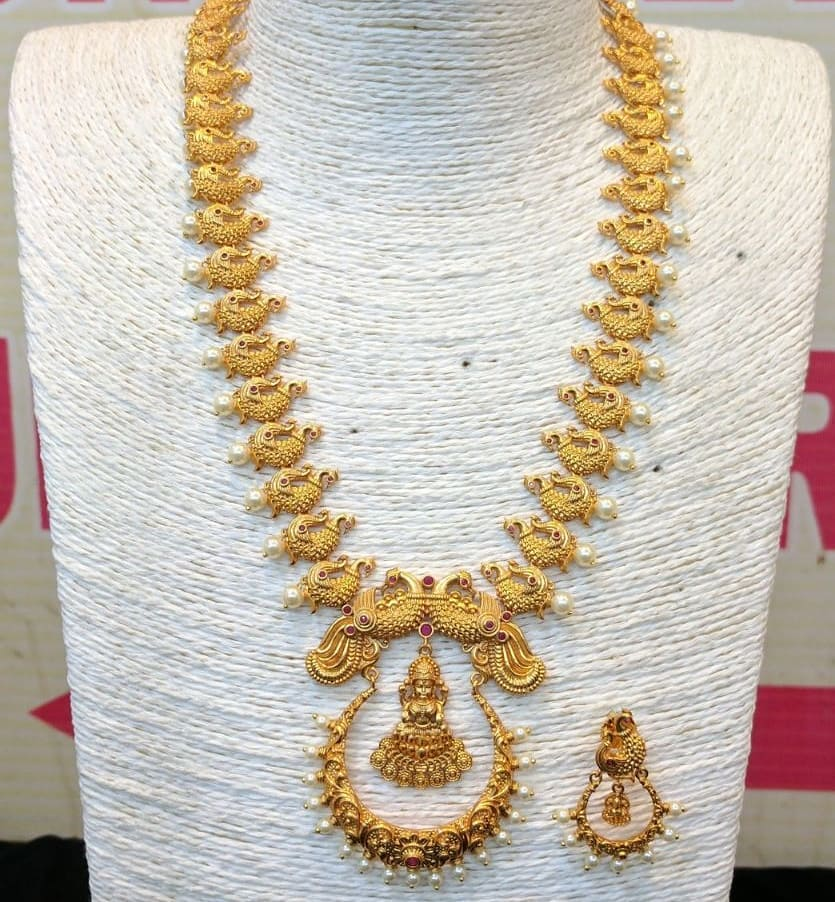 Traditional Temple Necklace From Dhruvam