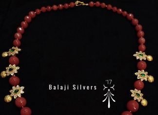 Trendy Silver Beaded Necklace From Balaji Silvers
