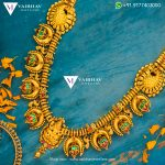 Antique Lakshmi Haram From Vaibhav Jewellers