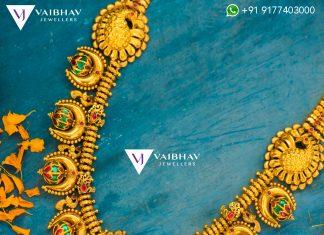Antique Lakshmi Haram From Vaibhav Jewellers