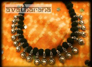 Beautiful Black Thread Necklace From Avantharana