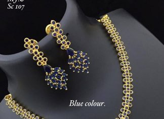 Beautiful Blue Necklace Set From Abhi's Jewel Hunt