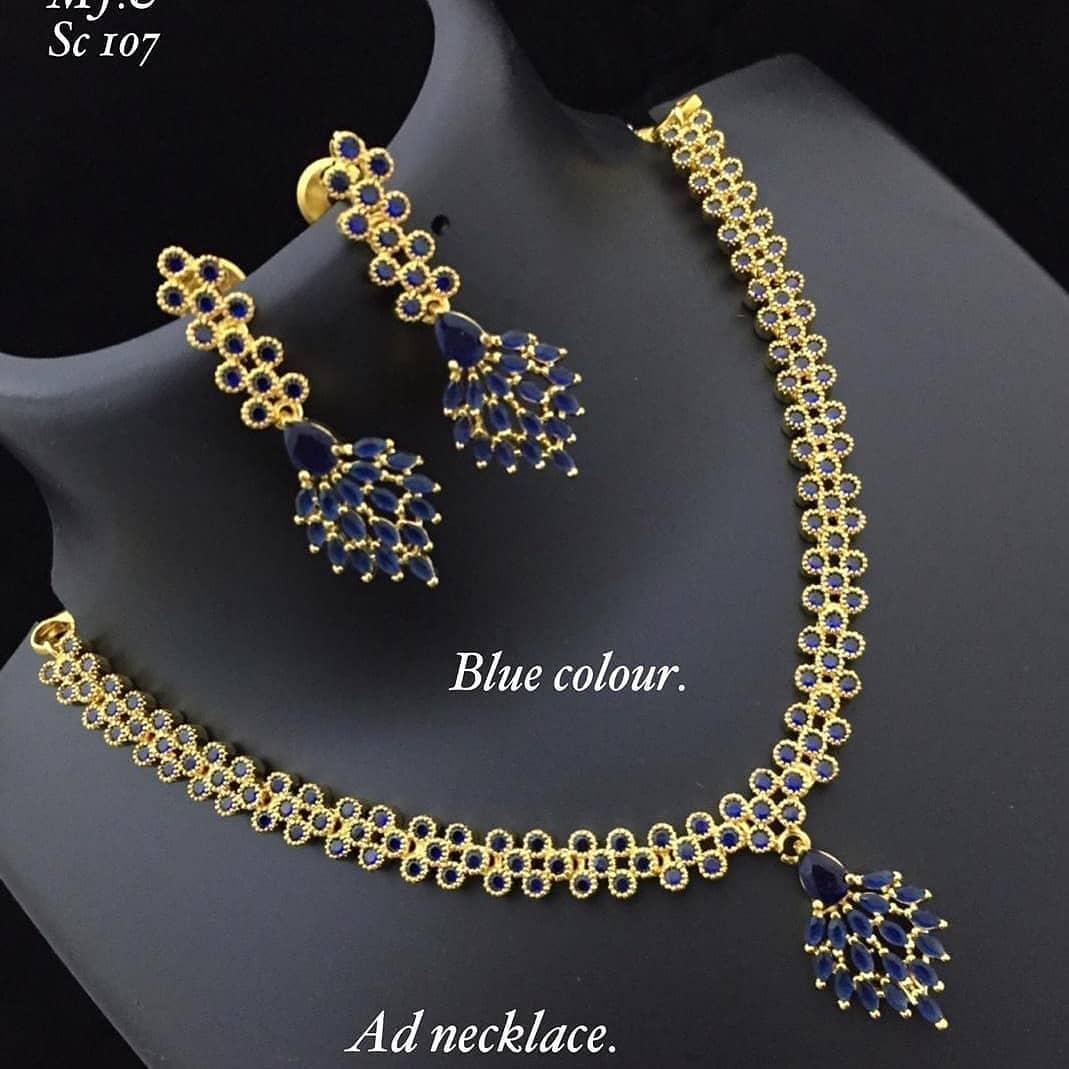 Beautiful Blue Necklace Set From Abhi's Jewel Hunt