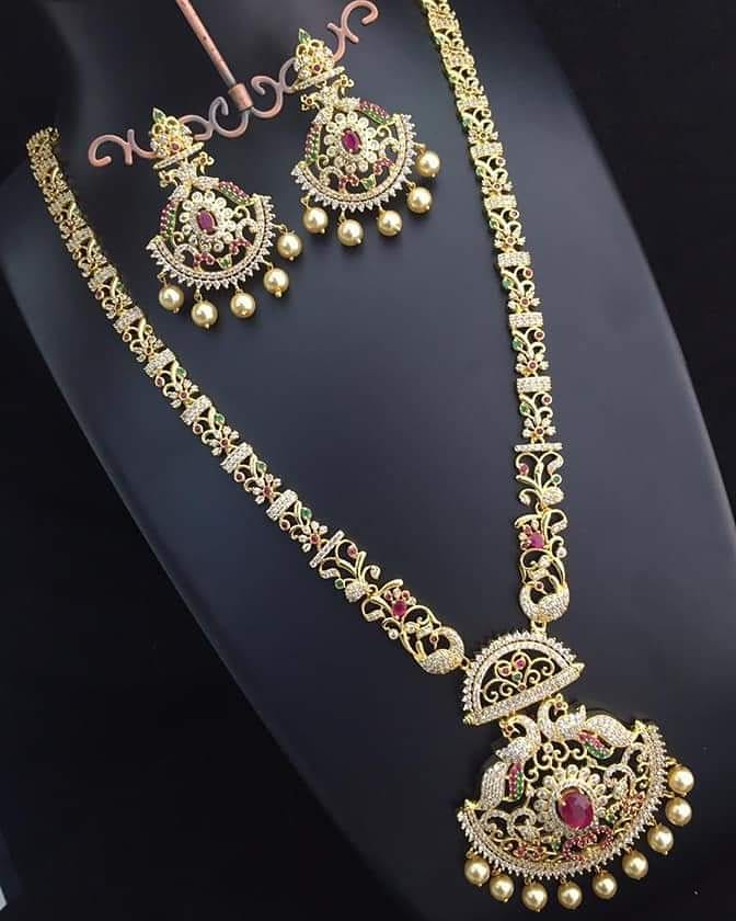 Classic Long Necklace Set From Lakshmi Fashiana