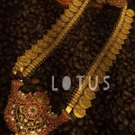 Ethnic Gold Plated Silver Lakshmi Haram From Lotus Silver Jewellery