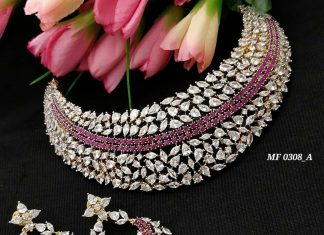 Gorgeous Choker Set From Kruthika Jewellery