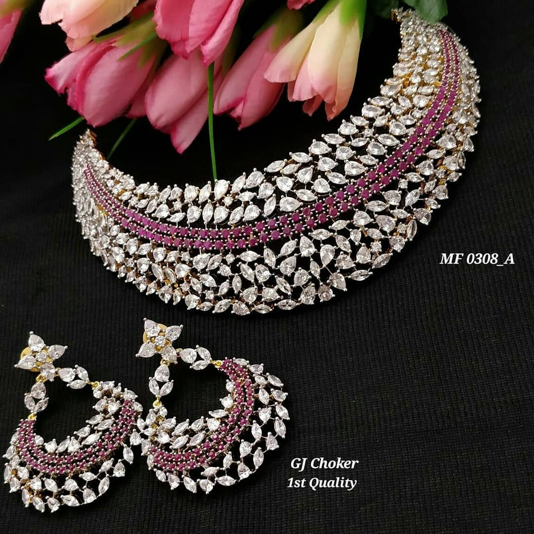 Gorgeous Choker Set From Kruthika Jewellery
