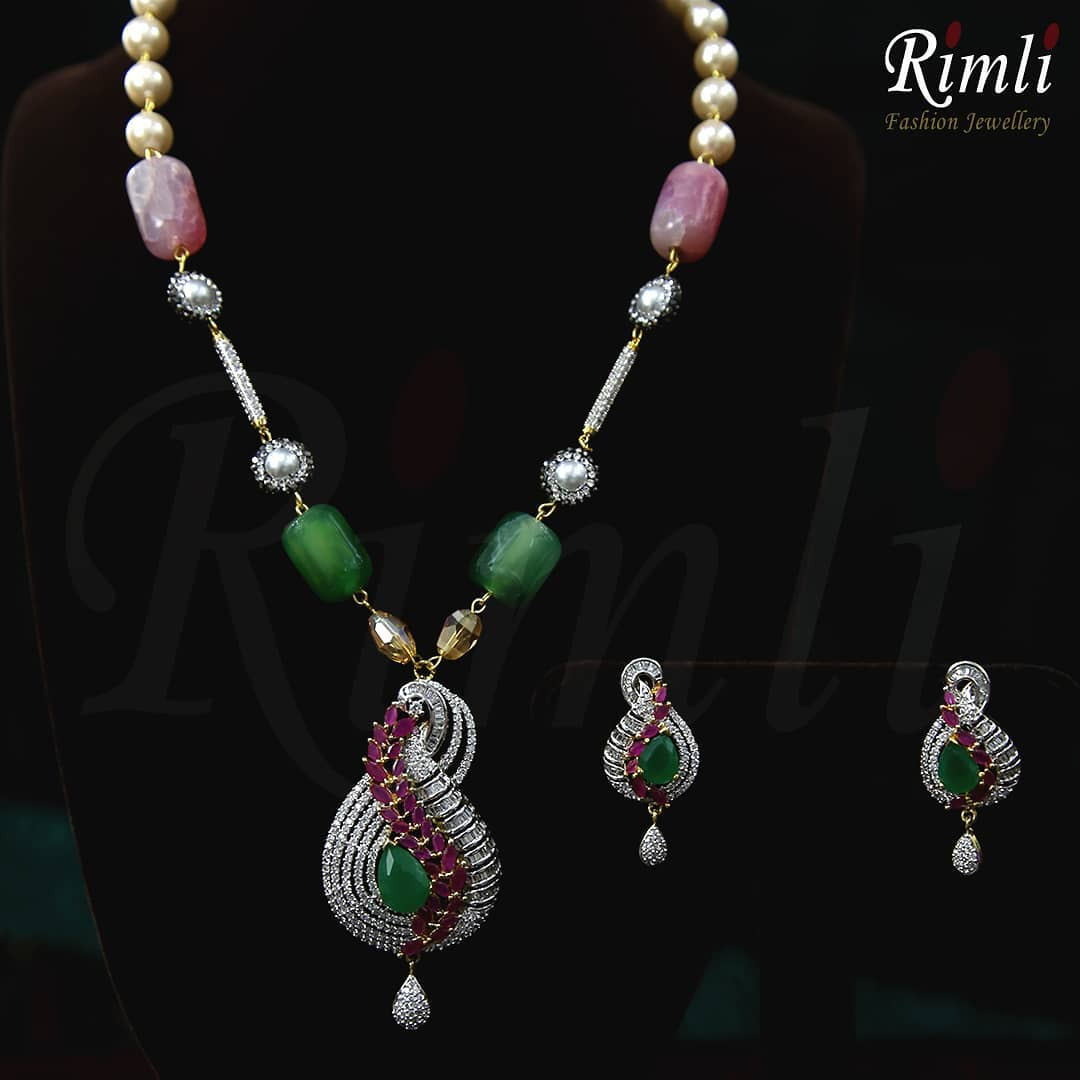 Gorgeous Semi Precious Beads Necklace From Rimli Boutique