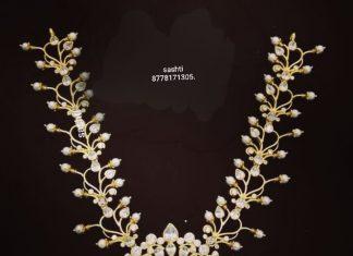 Gorgeous Silver Pearl Necklae From Silver Sashti