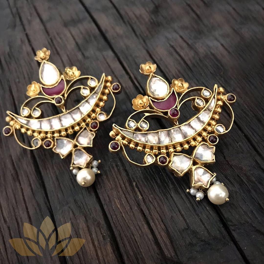 Pretty Silver Earring From Prade Jewels