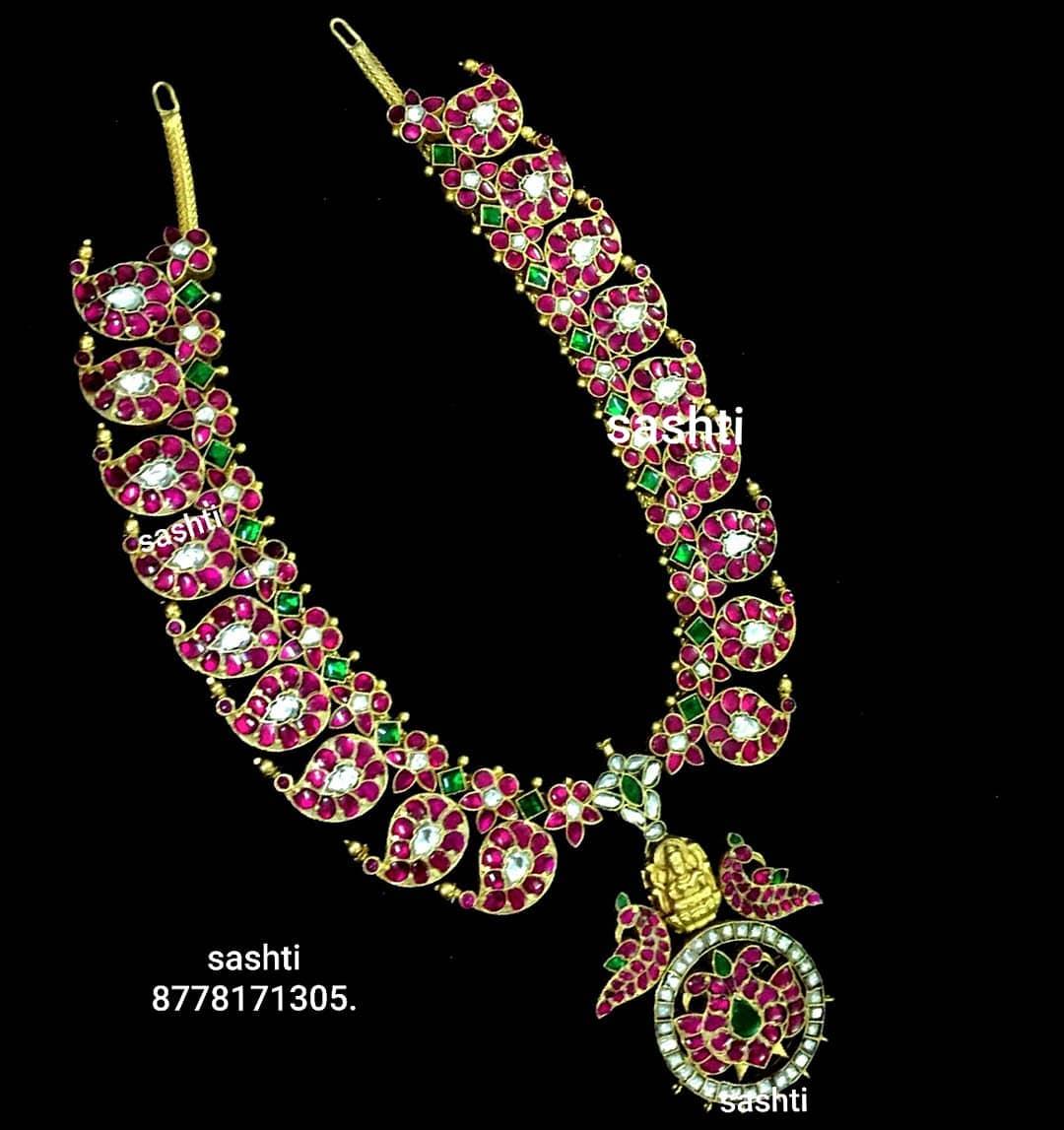 Stunning Mango Necklace From Silve Sashti
