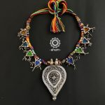 Stylish Silver Glass Necklace From Aham
