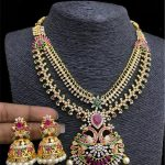 Amazing Stone Necklace Set From Temple Collection