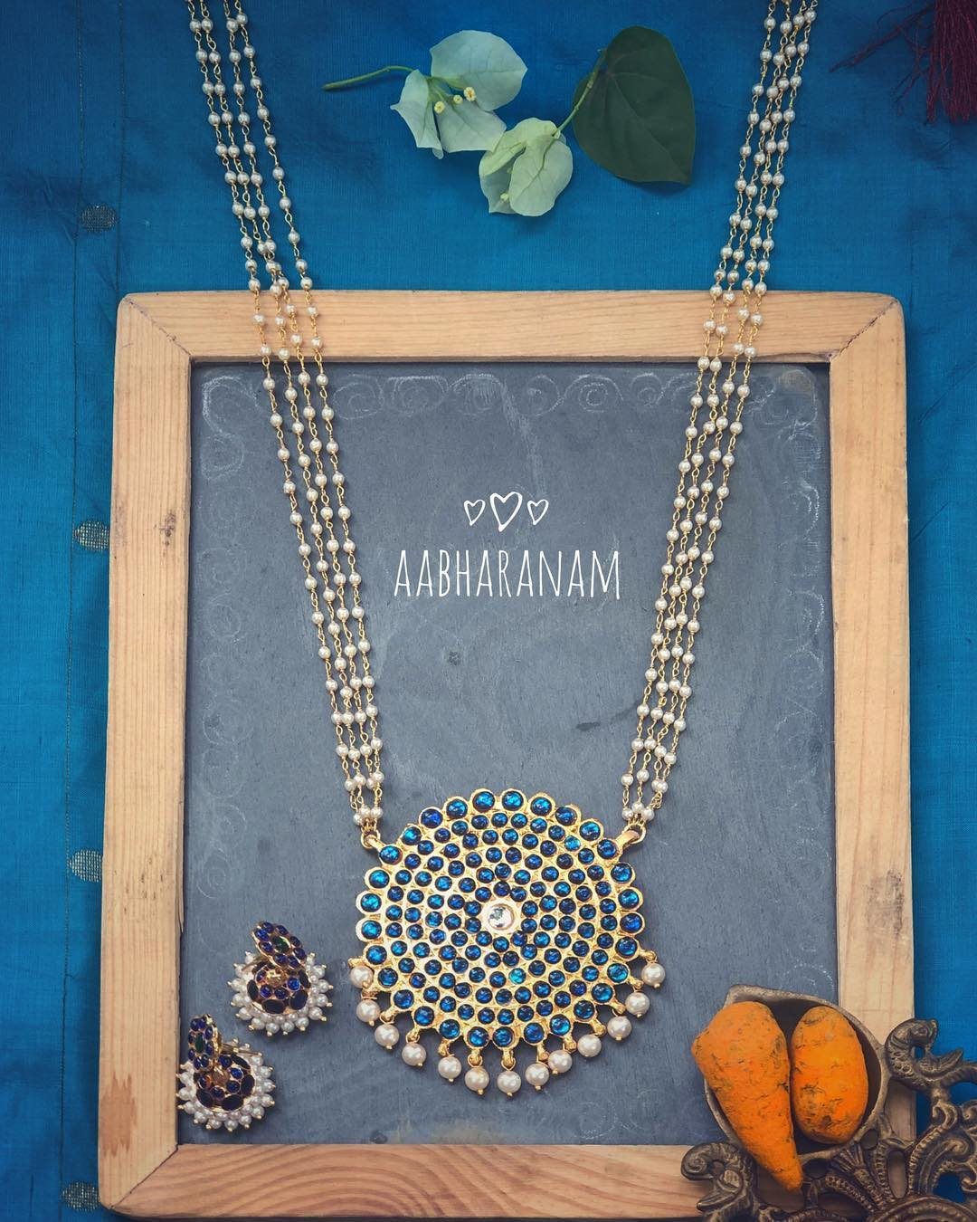 Beautiful Pearl Necklace From Abharanam