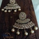 Chandbalis With Golden Stones From Viya Collection