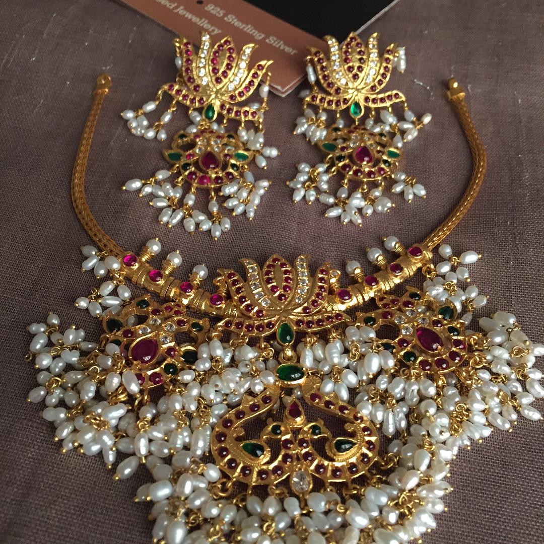 Cute Guttapusalu Silver Necklace Set From Silver-Cravings-Jewellery