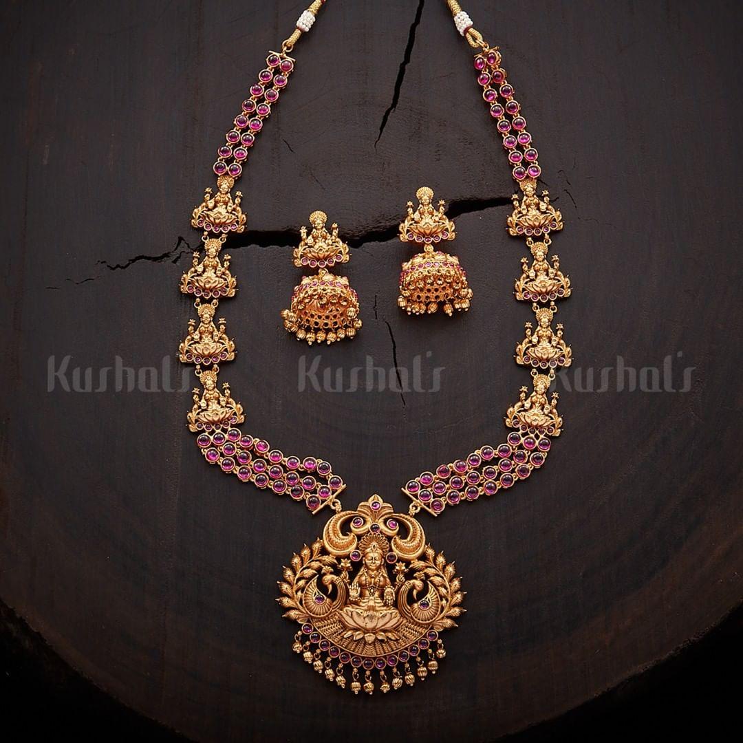 Ethnic Necklace Set From Kushal's Fashion Jewellery