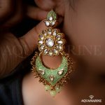 Fashionable Earring From Aquamarine