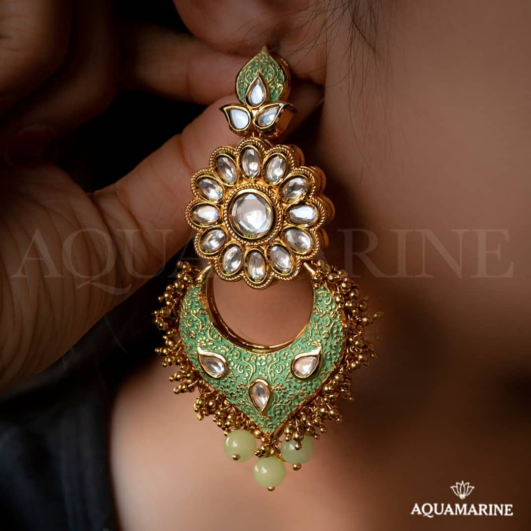 Fashionable Earring From Aquamarine
