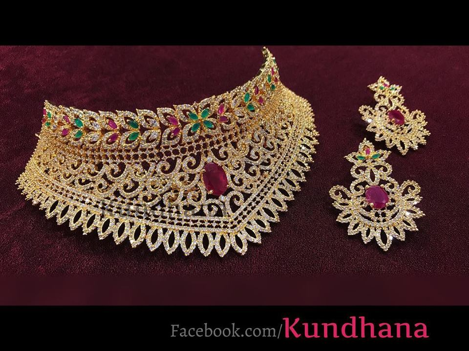 Gorgeous Choker Set From Kundana Jewellery