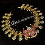 Lakshmi Haram With Kundan Chandbali Pendent From Lotus Silver Jewellery