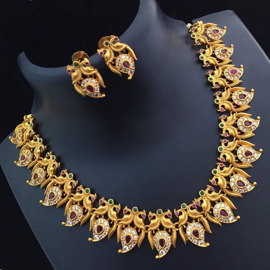 Mango peacock combo Necklace Set From Abhi's Jewel Hunt