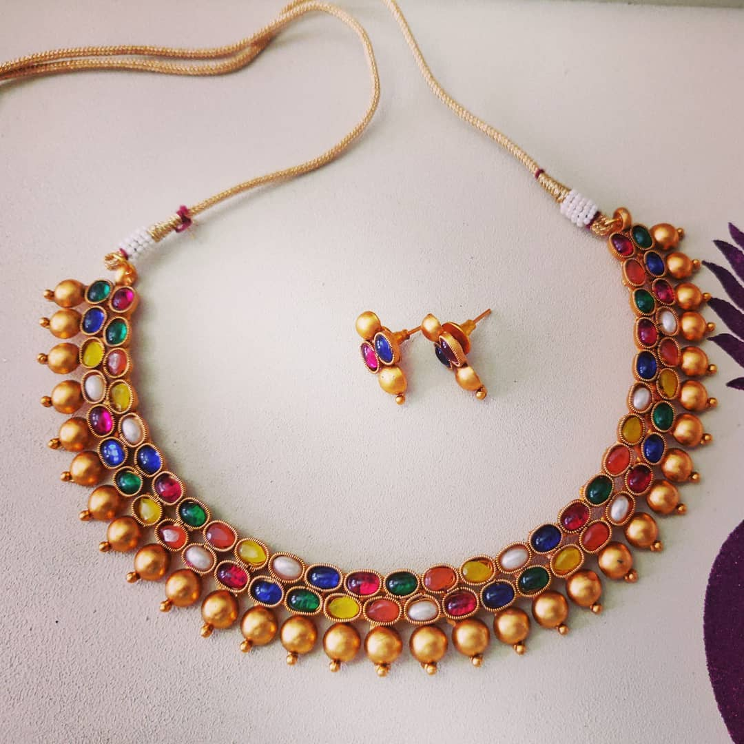 Matte Finish short Necklace from Madhura Boutique