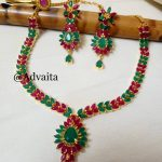 Precious Ruby And Emerald Necklace From Advaita