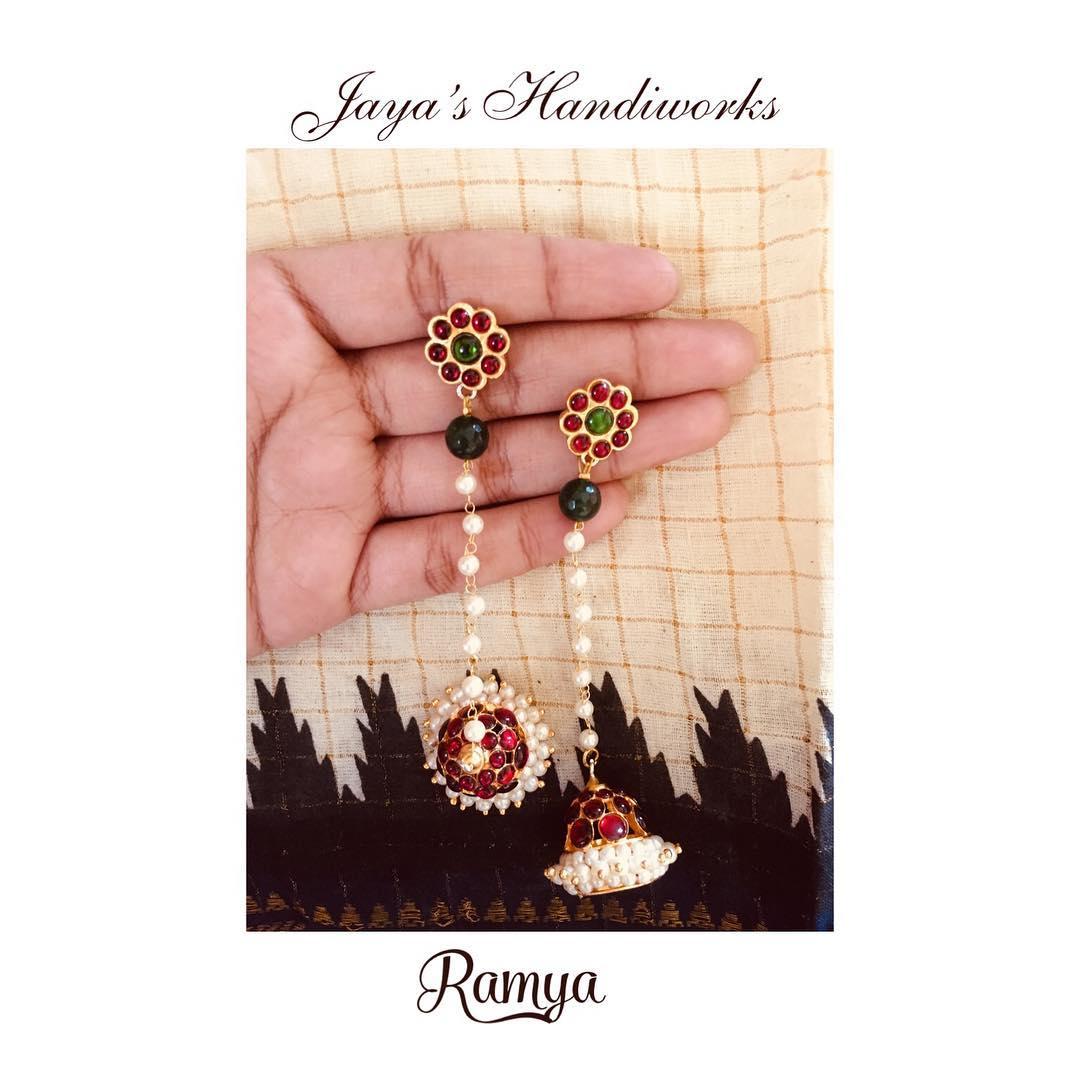 Pretty Jhumka From Jayas Jandi Works