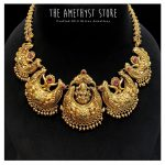 Silver Gold Plated Nakshi Necklace From The amethyst Store