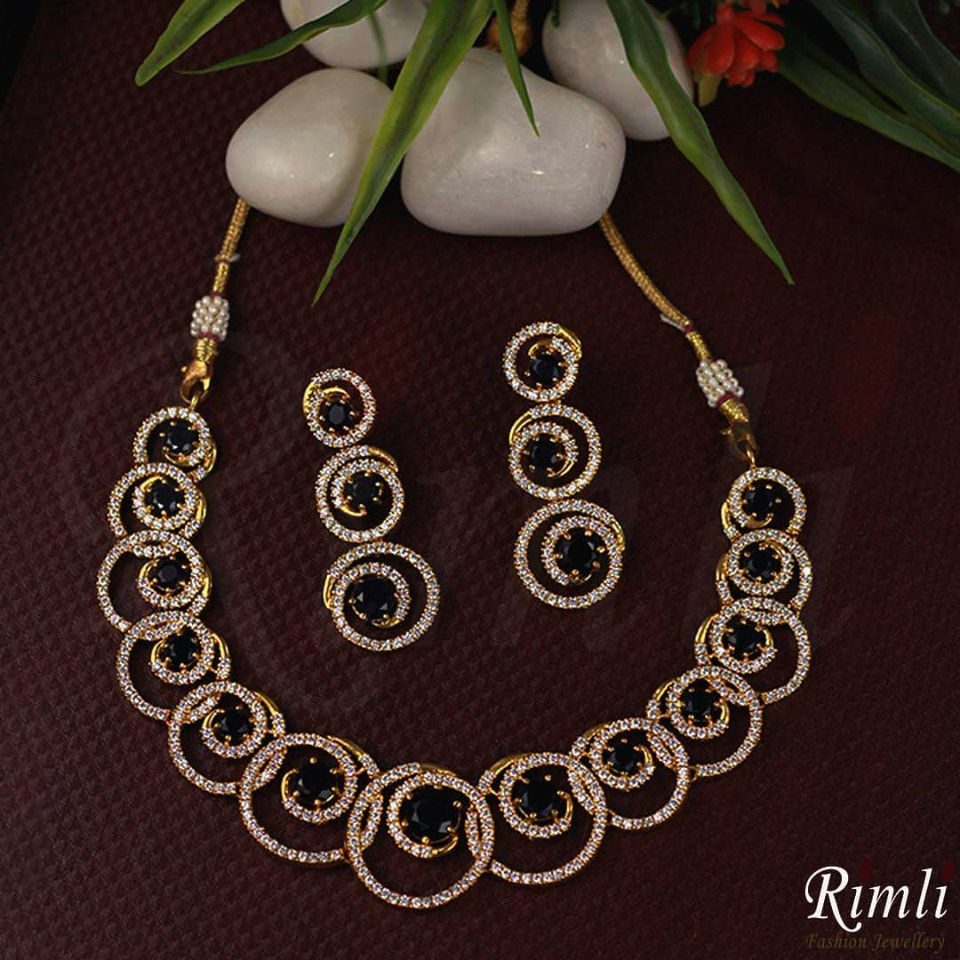 Sparkling White Necklace Set From Rimli Boutique