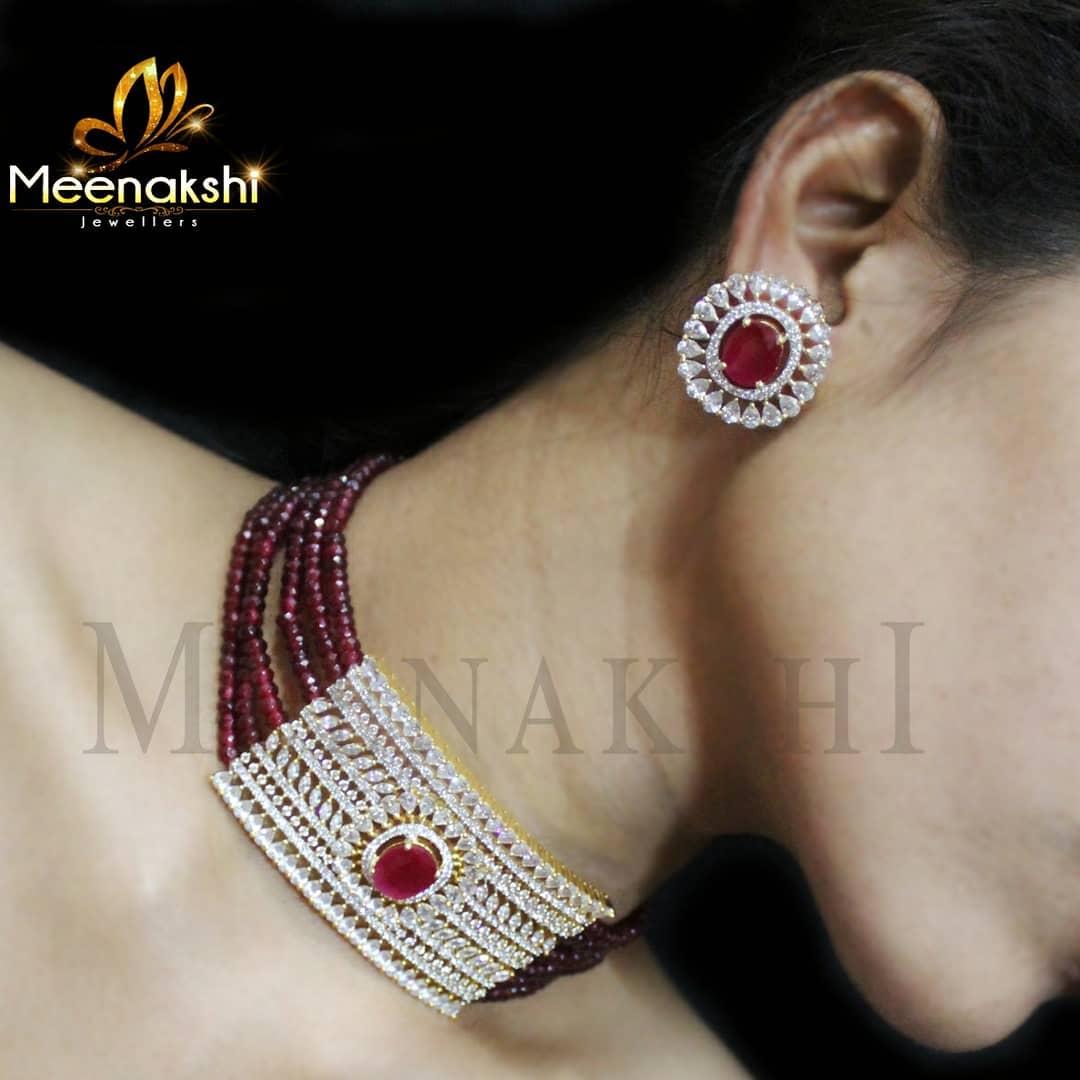 Trendy Choker Set From Meenakshi Jewellers