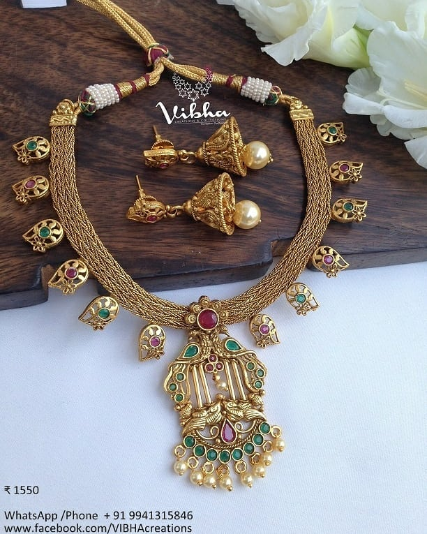 Unique Necklace From Vibha Creations