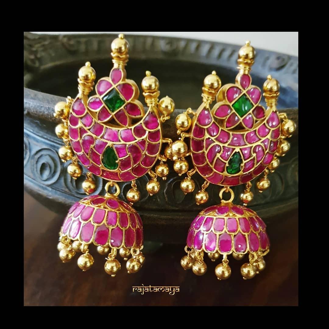 Bridal Silver Earrings From Rajatamaya