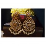 Designer Chakra AD Stones Studded Earrings From Happy Pique