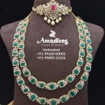 Emerald Diamond Necklace From Amarsons Jewellery
