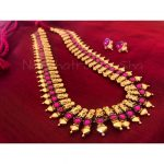 Gold Stone Haaram From Nkshatra By Sha