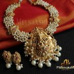 Gorgeous Temple Necklace From Meenakshi Jewellers