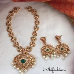 Matt AD Stone Necklace Set From Kirthi Fashions