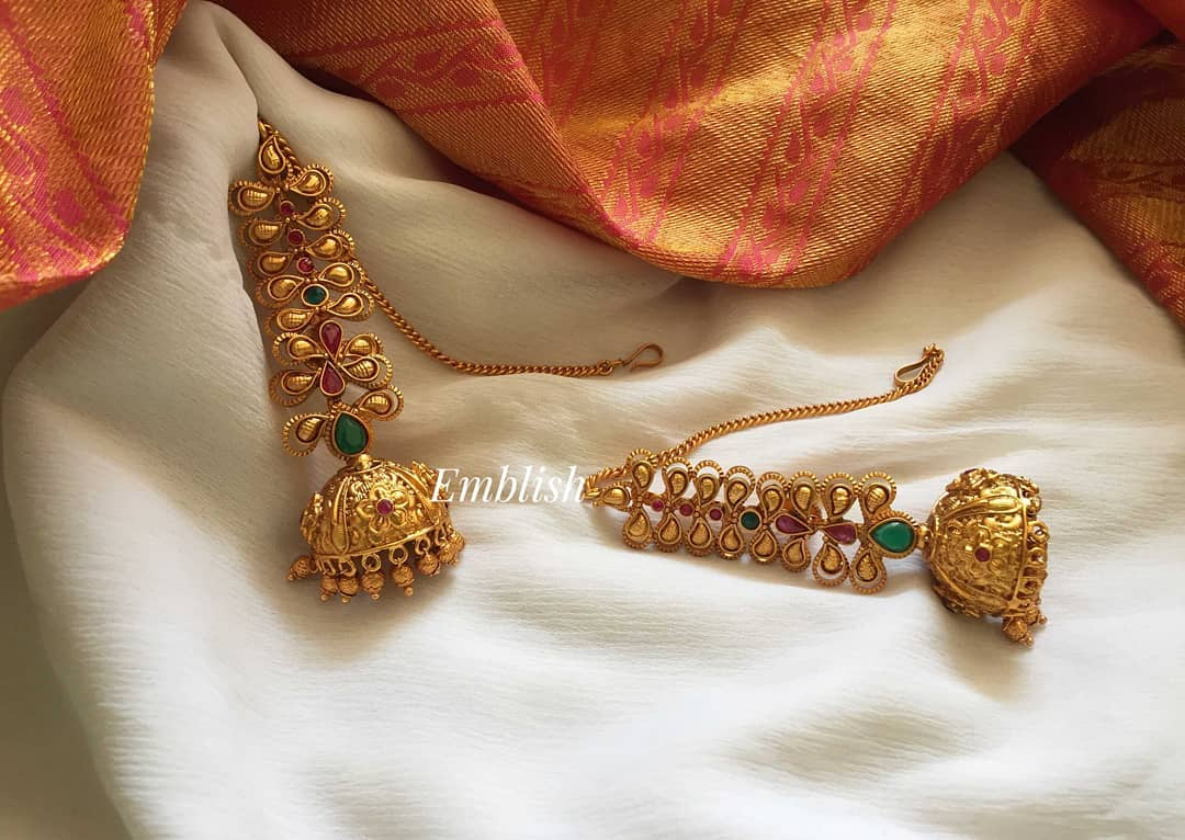Vintage Style Bridal Earring From Emblish Coimbatore