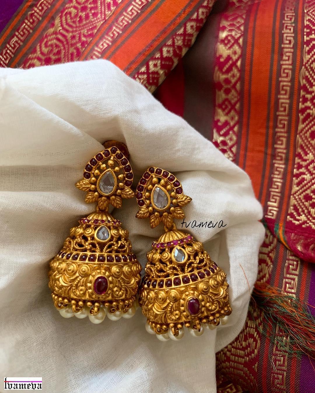 Antique Bridal Jhumka From Tvameva